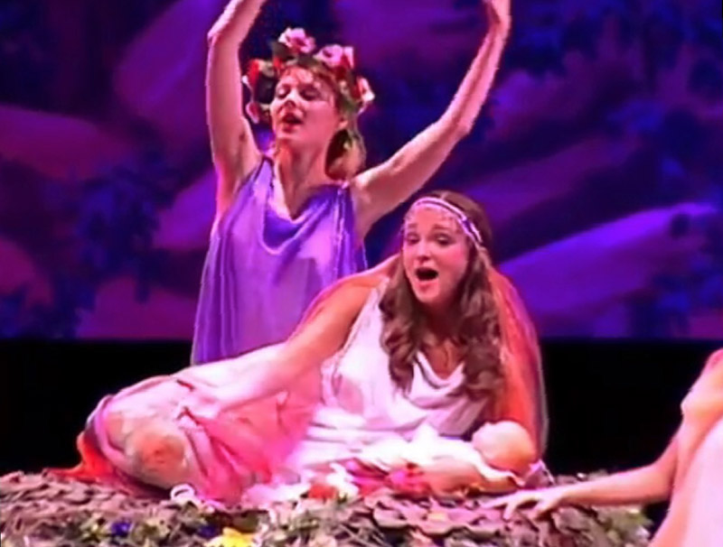 A scene from DREAM – a musical production adaption of Shakespeare's A Midsummer Night's Dream