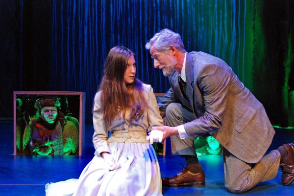 Landfield with co-star Carmela Corbett in Sarah Ruhl's Eurydic